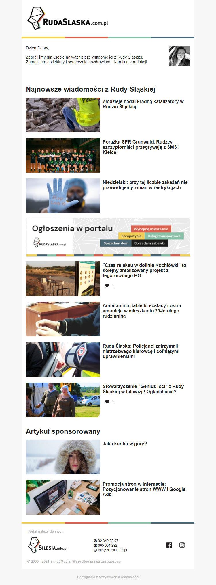 Newsletter portalu